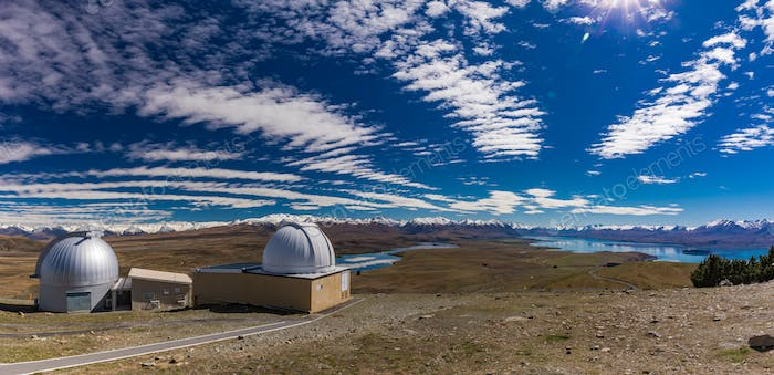 University of Canterbury Mount John Observatory at  Tekapo lake,