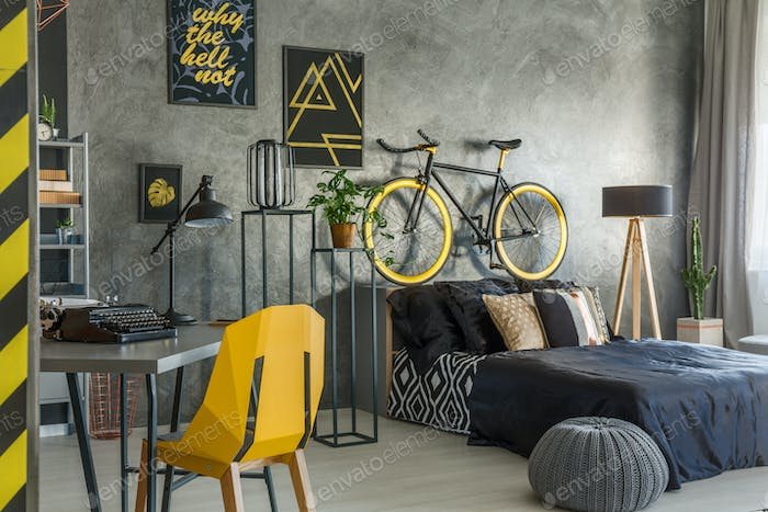 Hipster flat with office