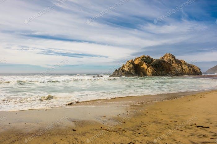 Rock at Pfeiffer Beach, California
