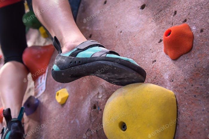 Climbing Shoes Foot close-up