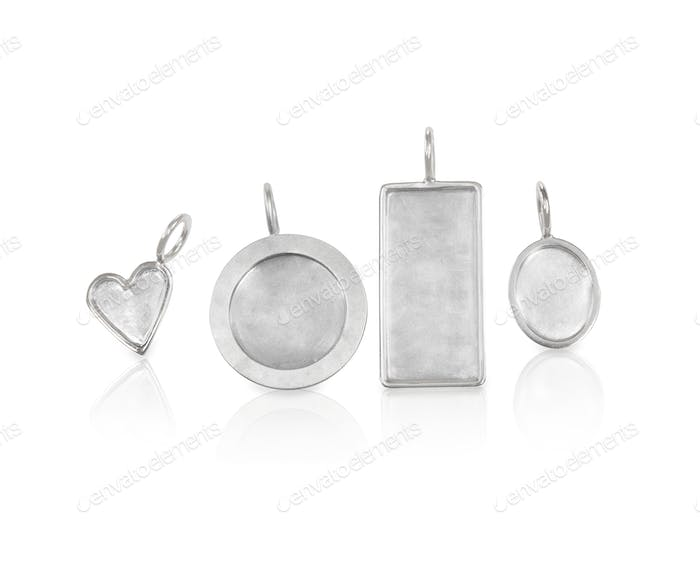 Collection of Silver Jewelry Necklace Charms in various shapes and sizes