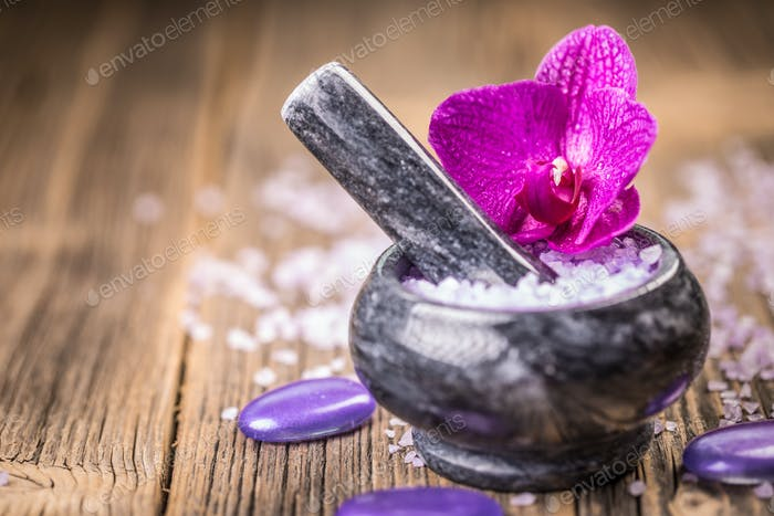 Salt and orchid