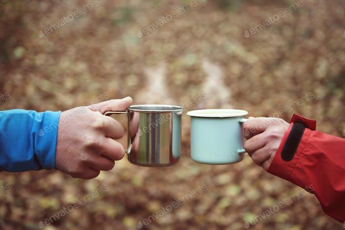 Hot tea to warm up