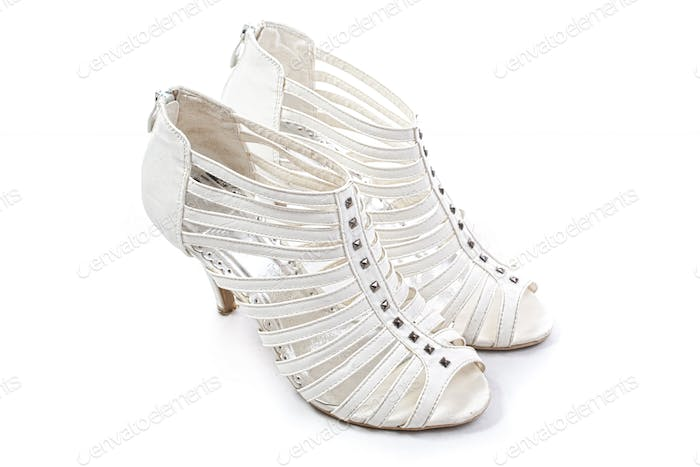 Women shoes with crystals