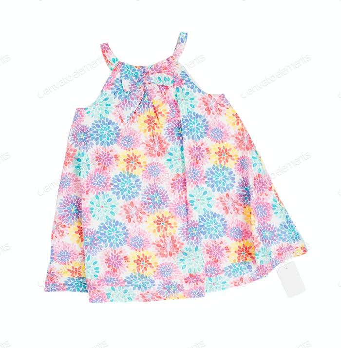 Kinderkleid mit Blumenmuster.