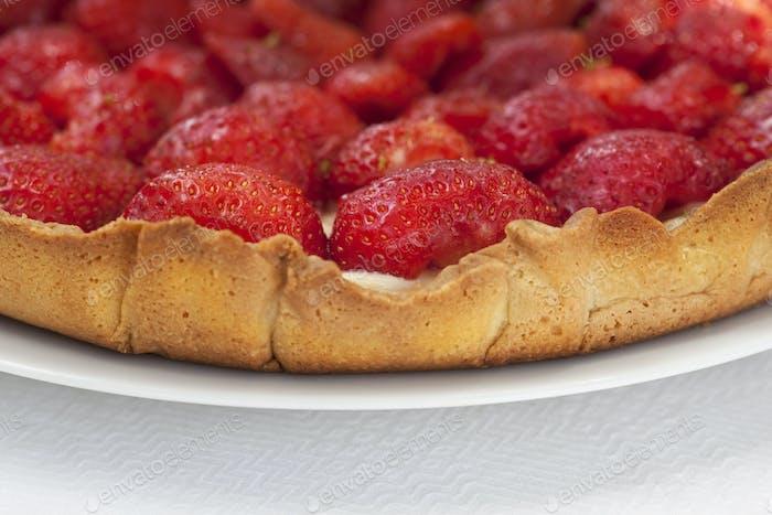 Erdbeer-Tart Nahaufnahme