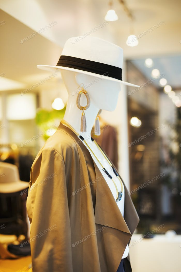 Mannequin in a fashion boutique in Tokyo, Japan.