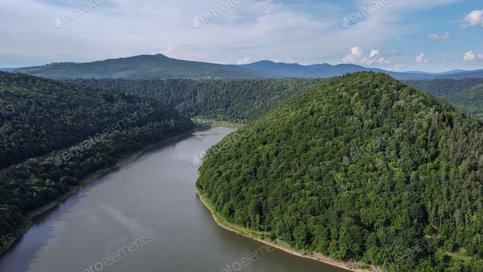 Zetea Lake Aerial View, Romania