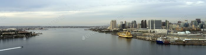 Unique View San Diego California Port Downtown City Skyline