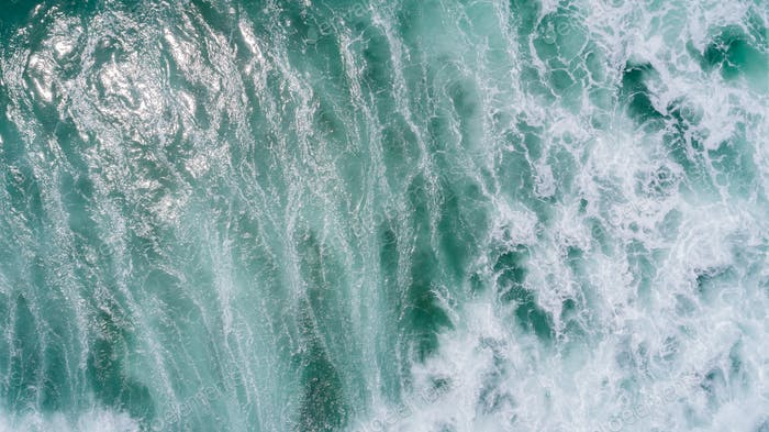 Aerial view of sea waves