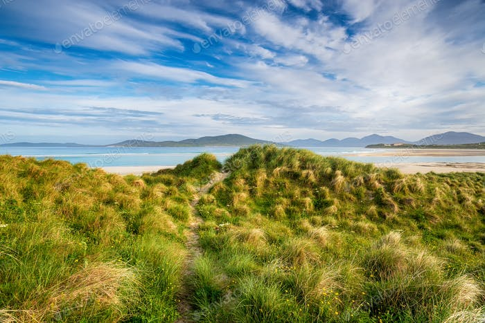 The sand dunes and machair at Seilebost