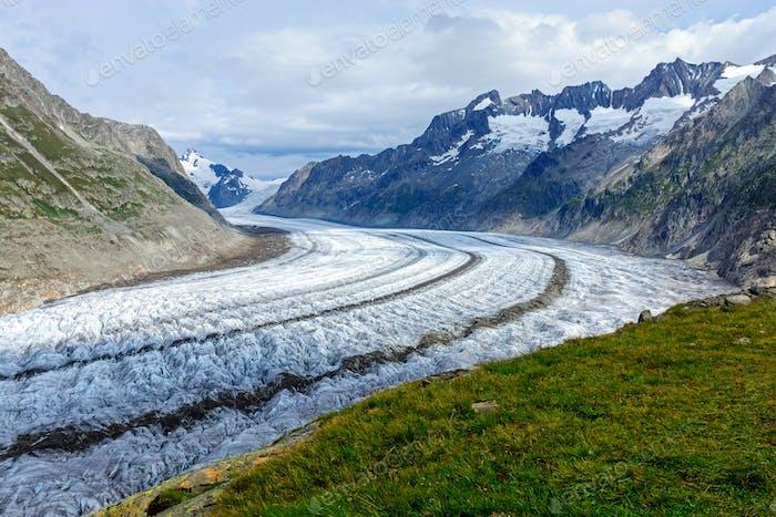 View of the Altesch glacier