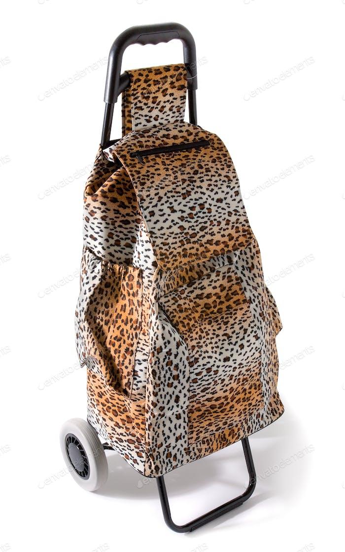 Aggressive compulsive leopard print shopping cart