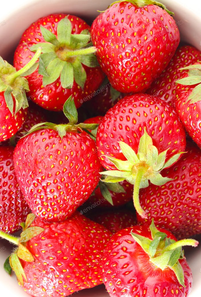 Fresh ripe strawberries, concept of healthy nutrition