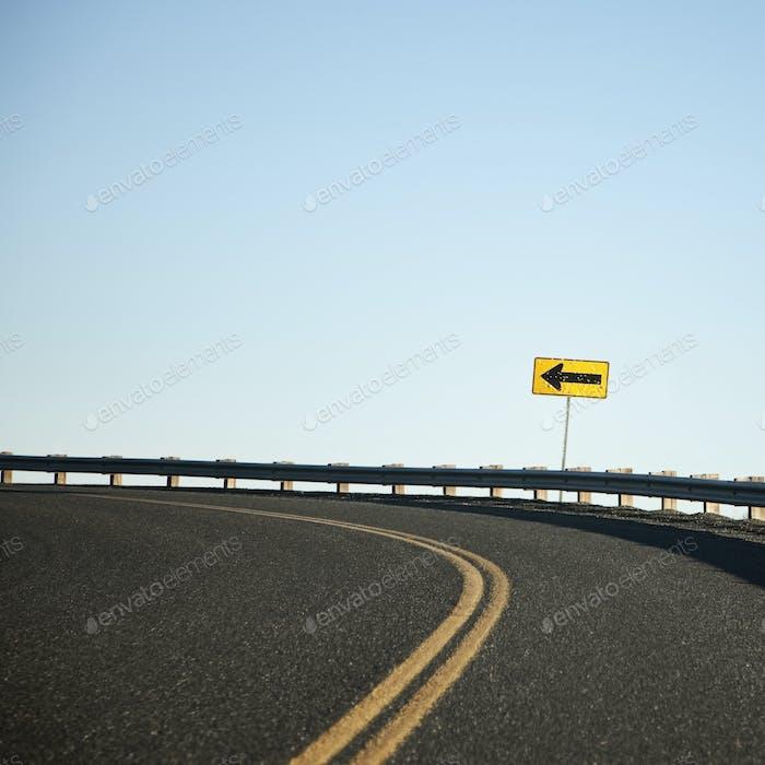 Road Curving Left