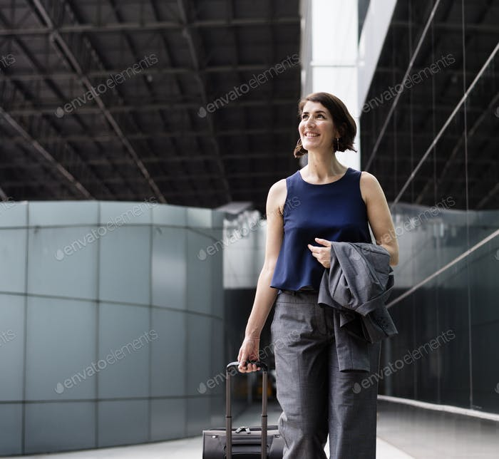 Businesswoman Traveler Journey Business Travel