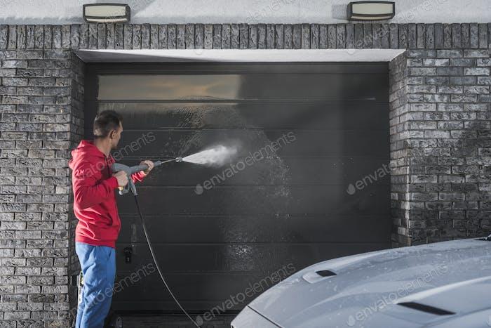 Garage Door Pressure Wash