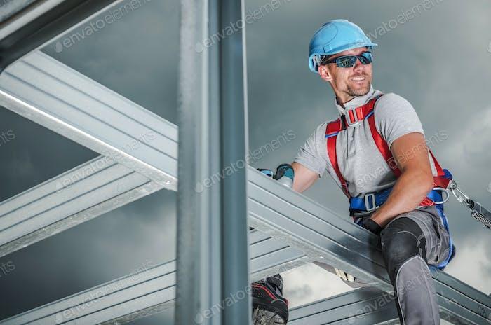 Lächelnd Bauunternehmer
