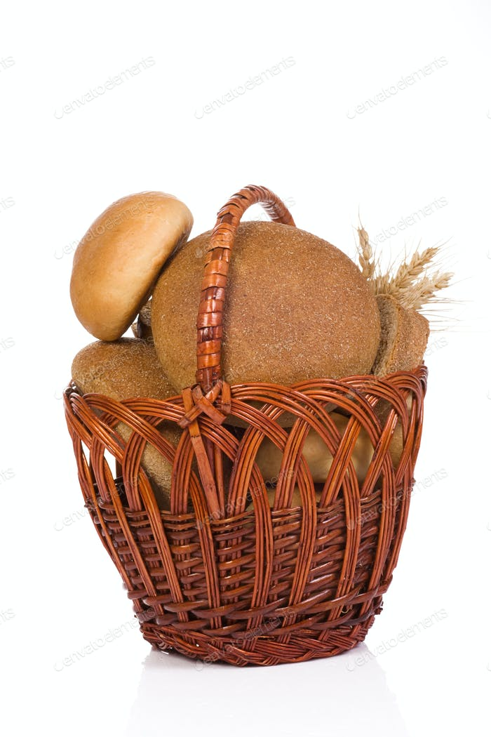 full basket with bread