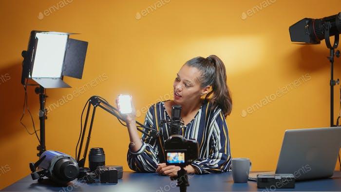 Presenting a mini-led light for professional use