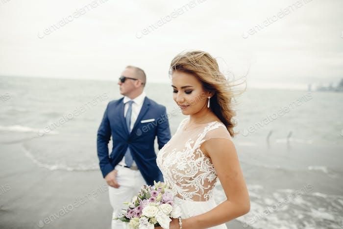 Thumbnail for Elegant wedding couple