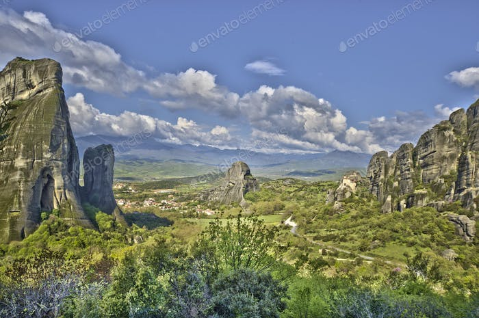 The rocks of Meteora