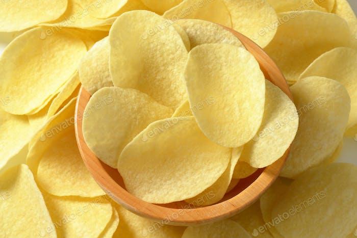 Salted potato crisps
