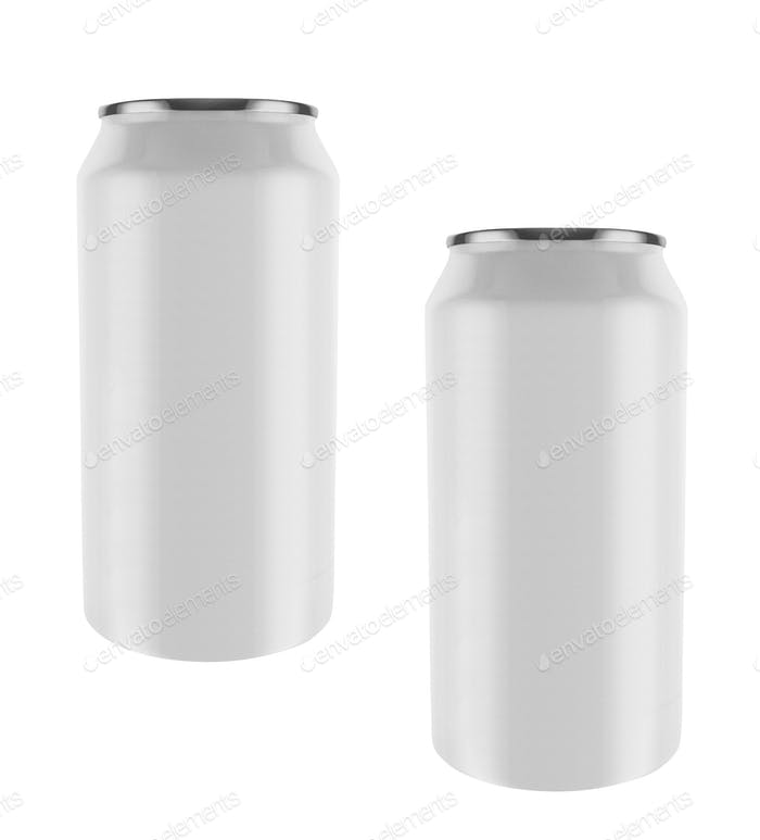 aluminum cans isolated on white background