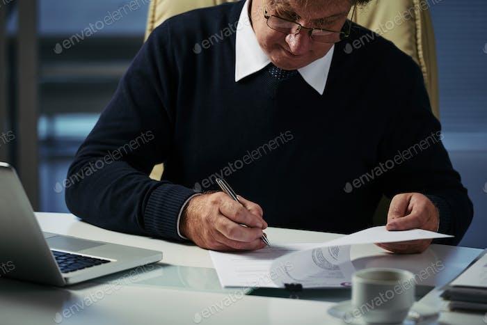 Comprobación de documentos