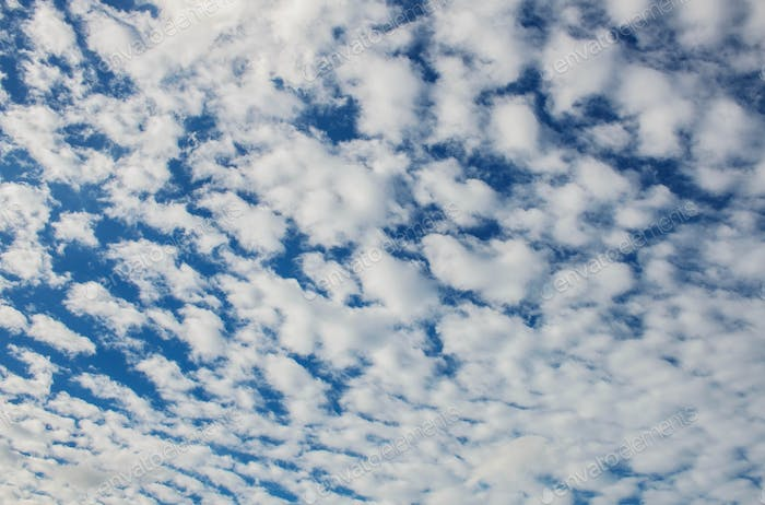 Clouds with patterns background