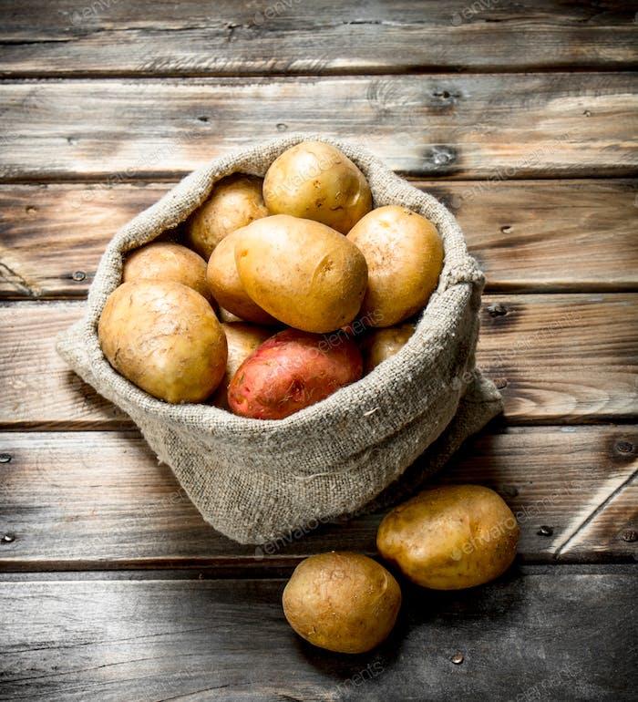 Kartoffeln im Sack.