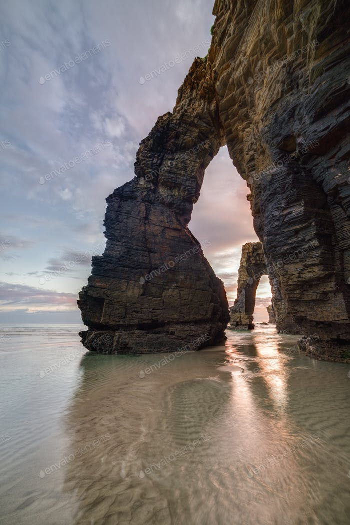 Rock pillars on the Beach of the Cathedrals