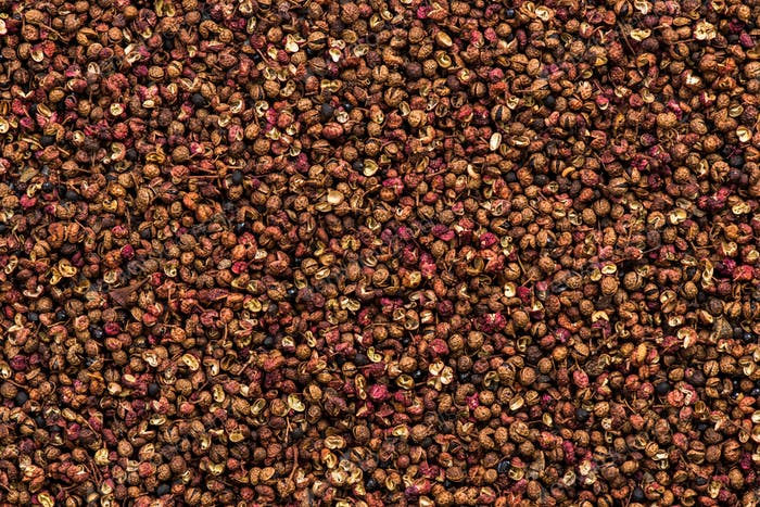 Sichuan pepper or Chinese coriander full frame background
