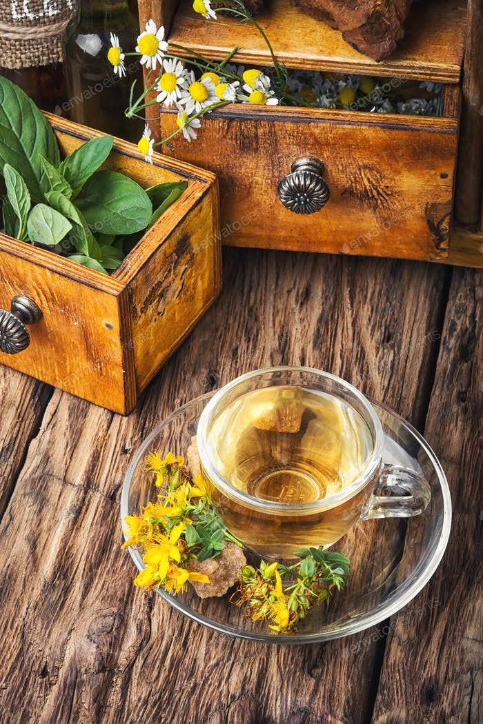 Herbal Hypericum tea.