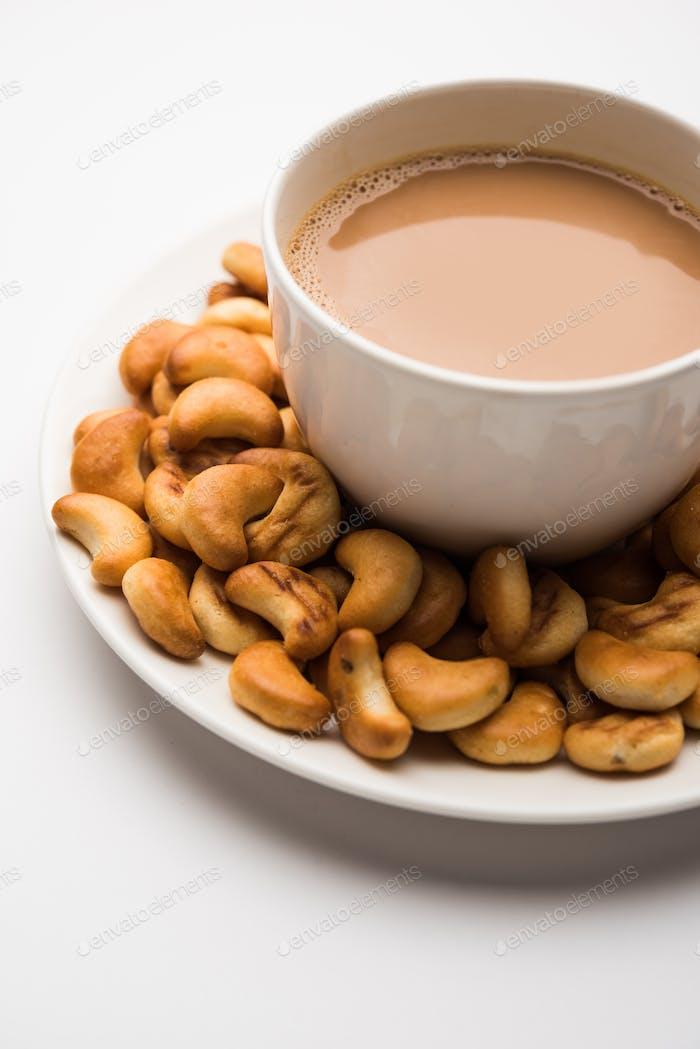 Cashew-Form Kekse