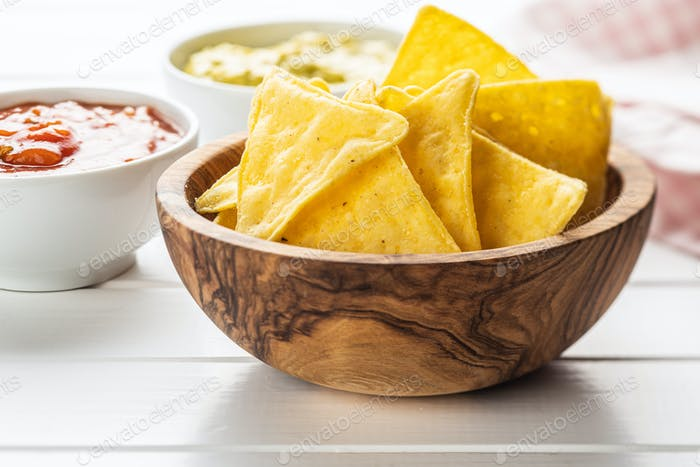 Maisnacho-Chips. Gelbe Tortilla-Chips