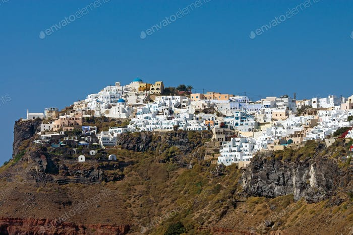 Imerovigli on Santorini Island