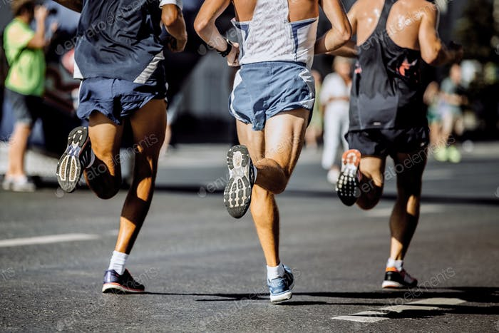 Beine männliche Läufer
