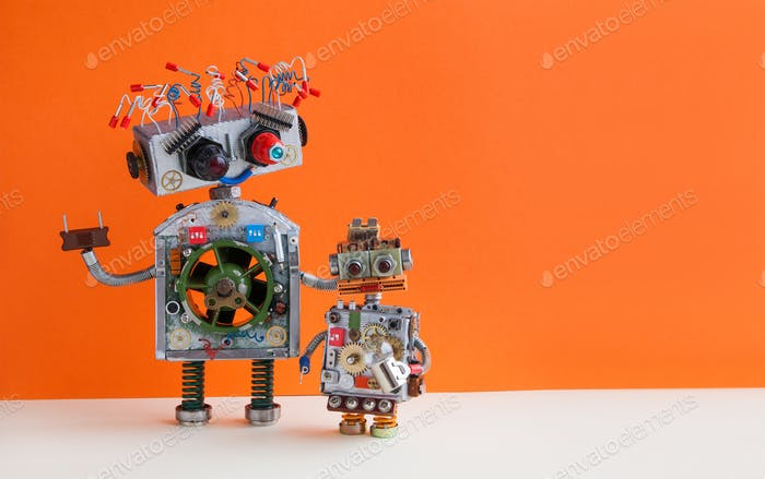 Creative design Robotic family.