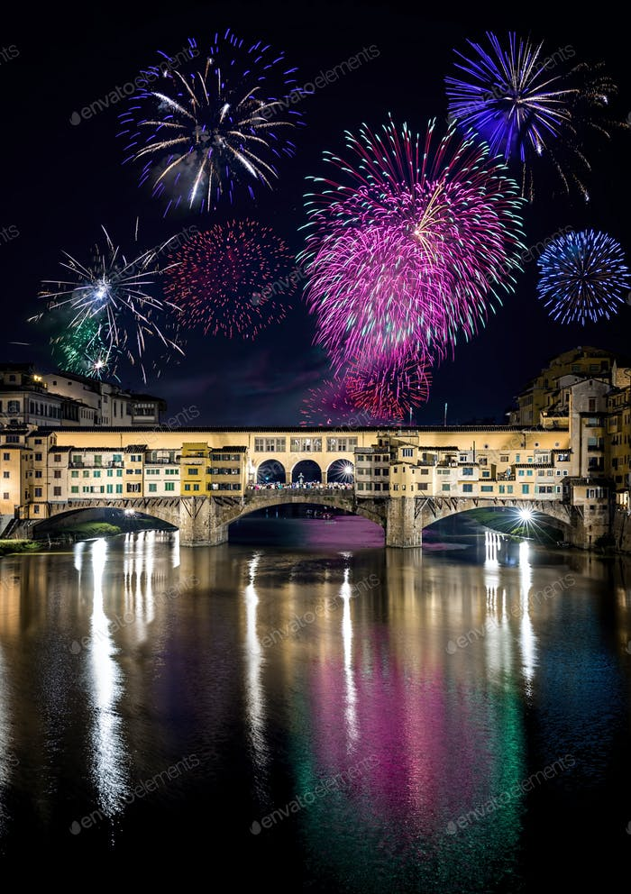 Feuerwerk Florenz