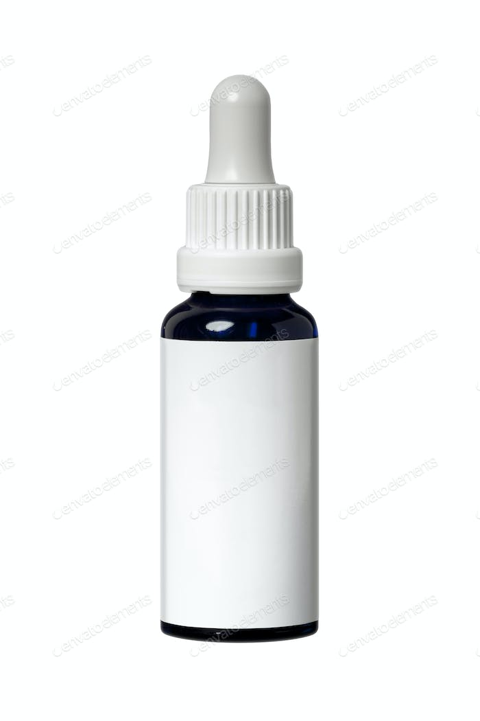 typical small cosmetic bottle