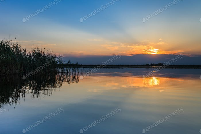 sunrise in the Danube Delta