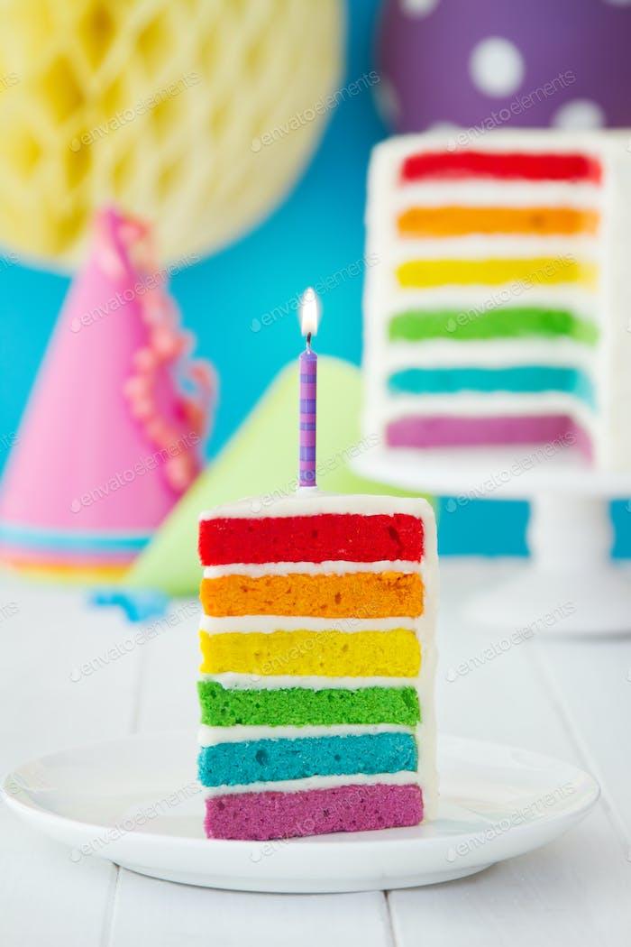 Bunte Scheibe Regenbogen Geburtstagskuchen