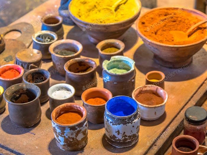 Oil paint pigments