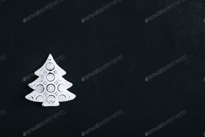 Weihnachten Hintergrund mit weißem Metall Weihnachtsbaum