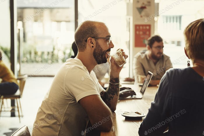 Coffee Shop People Cafe Restaurant Relaxation Concept