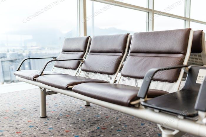 Sitzplatz im Flughafen