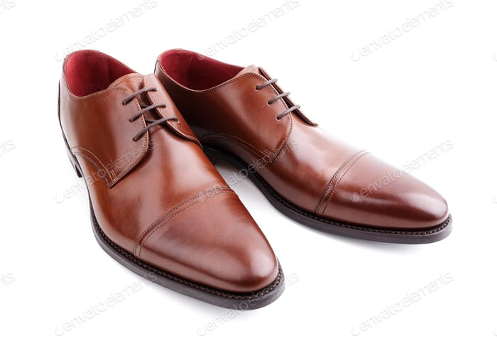 Classic brown mans leather shoes