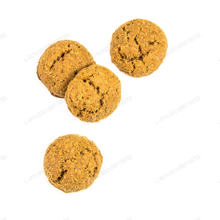 Four pepernoten cookies