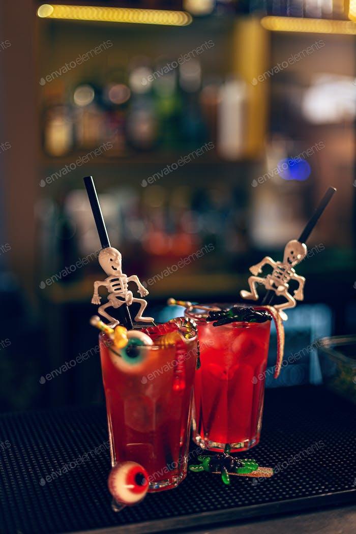 Halloweens spooky drink